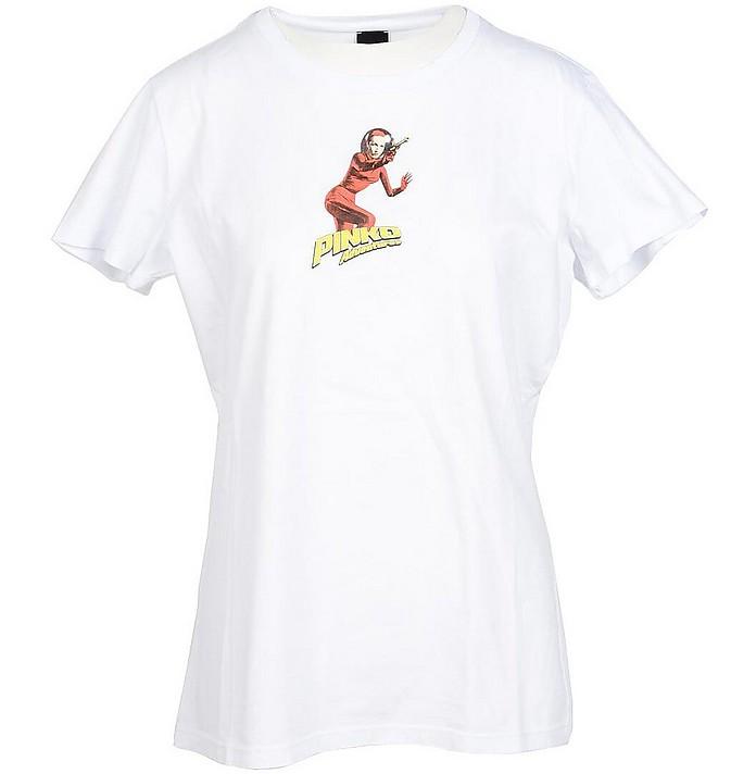 Women's White T-Shirt - Pinko / ピンコ