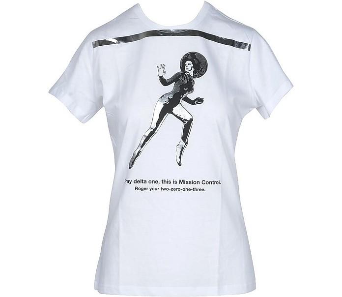 Women's White T-Shirt - Pinko