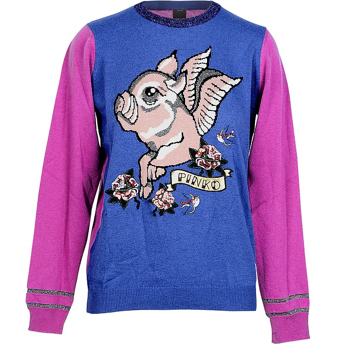 Blue and Violet Women's Sweater - Pinko