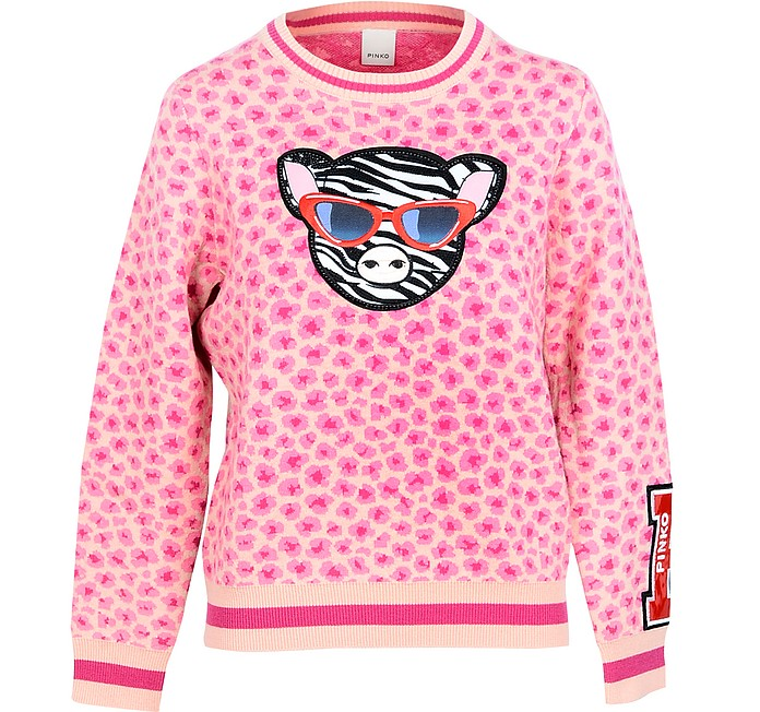 Pink Women's Sweater w/Patches - Pinko