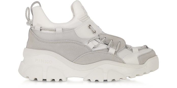 Cumino White Leather Women's Sneakers - Pinko