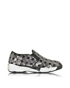 Sequins Silver Fabric Sneaker - Pinko