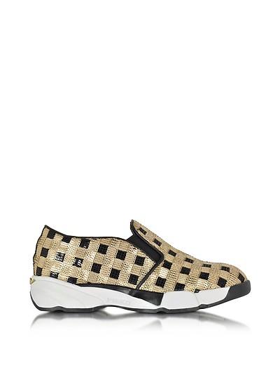 Sequins Gold Fabric Sneaker - Pinko