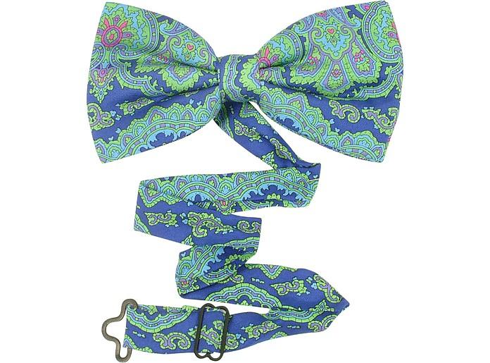 Paisley Printed Silk Bowtie - Ken Scott