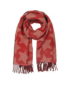 Stars Double Sided Wool Blend Scarf - Maison Kitsuné
