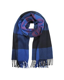 Dark Navy Wool Blend Courage Scarf - Maison Kitsuné