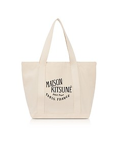Palais Royal Ecru Canvas Tote Bag - Maison Kitsuné