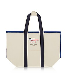 Richelieu XL Cotton Canvas Tote Bag - Maison Kitsuné