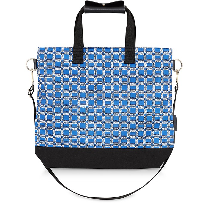 All Over Rectangle Printed Nylon Tote Bag - Maison Kitsuné