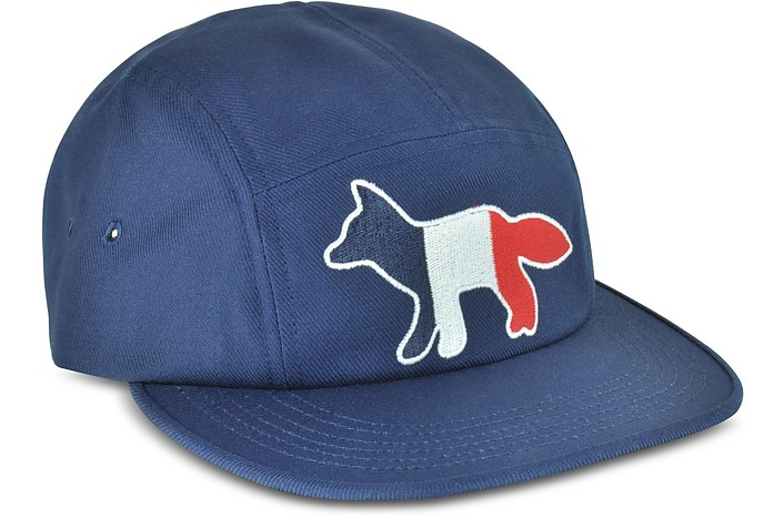 Maison Kitsuné Navy Blue Tricolor Fox Baseball Cap at FORZIERI Canada b13259e8f81