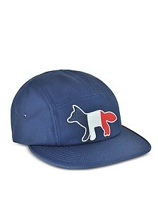 Navy Blue Tricolor Fox Baseball Cap - Maison Kitsuné