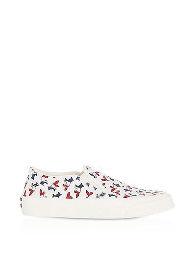 Slip-on Sneaker aus Canvas mit Tricolor Fox Print - Maison Kitsuné