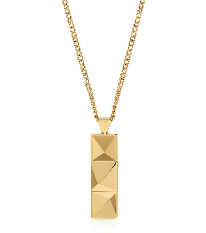 In'N'Out Tag Necklace Yellow Gold - Northskull