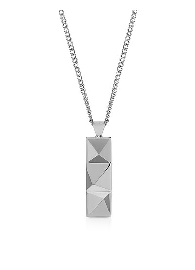 In'N'Out Tag Necklace Silver - Northskull