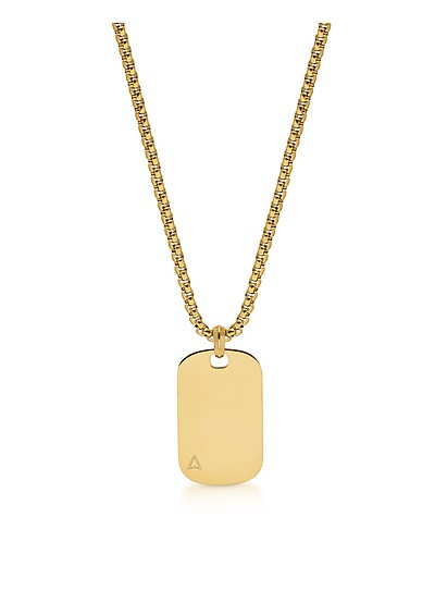 Id Tag Necklace In Yellow Gold - Northskull