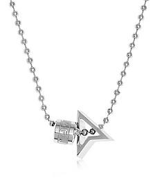 Silver North Pendant w/ Logo Wheel & Ball Necklace - Northskull