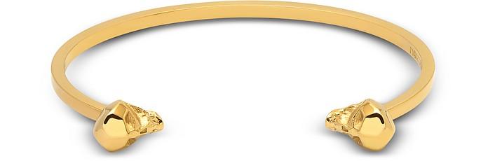 Hexagus Skull Cuff In Yellow Gold - Northskull