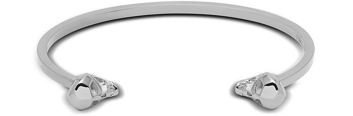 Hexagus Skull Cuff In Silver - Northskull
