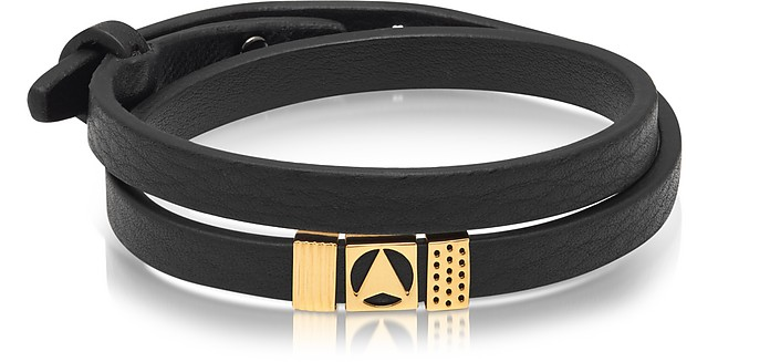 Insignia Black and Gold Double Wrap Bracelet - Northskull