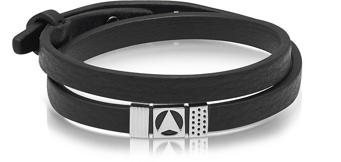 double wrap bracelet - Black Northskull tqkRLk