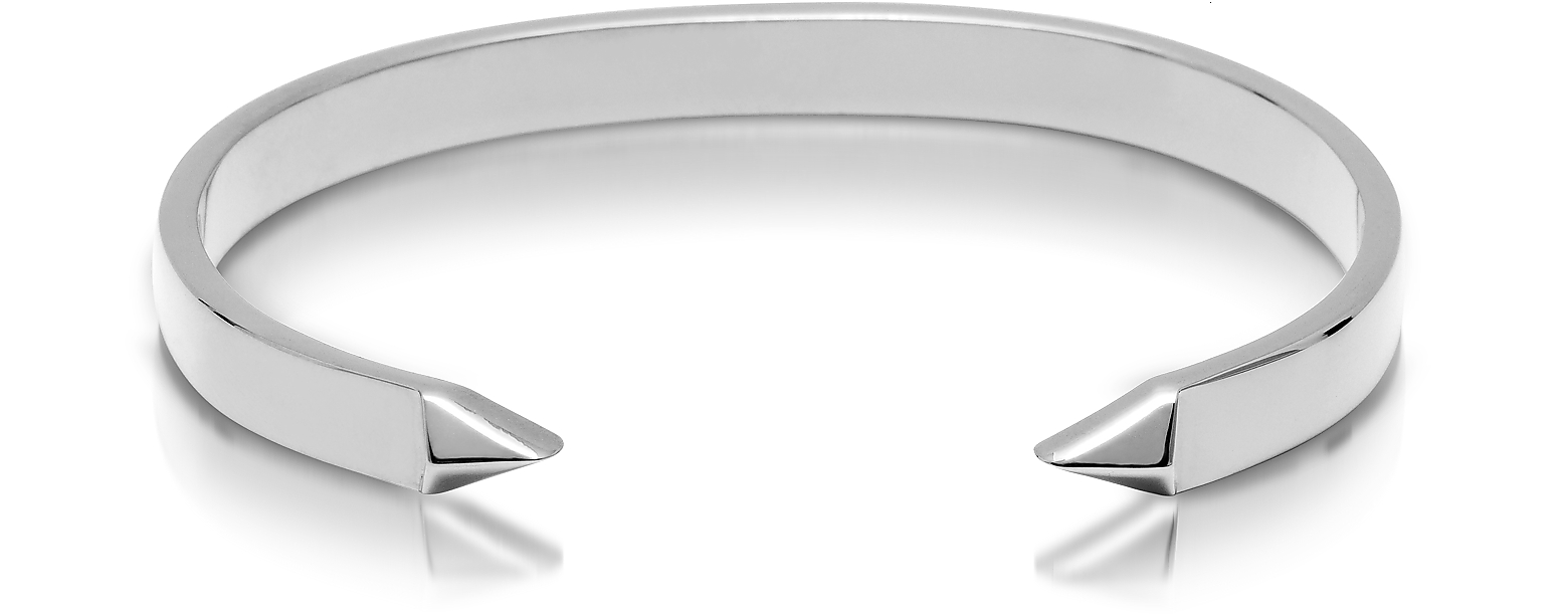 The End Rhodium Plated Brass Men's Cuff