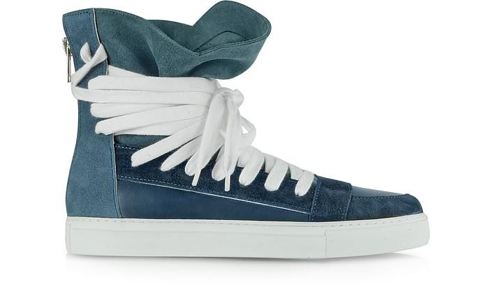Blue Multilaces High Top Sneaker
