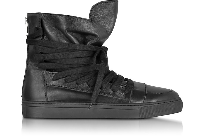 Krisvanassche Pelle Multilace Sneaker Nera In 41 41 Su Eu High Top UdYOxOwIq