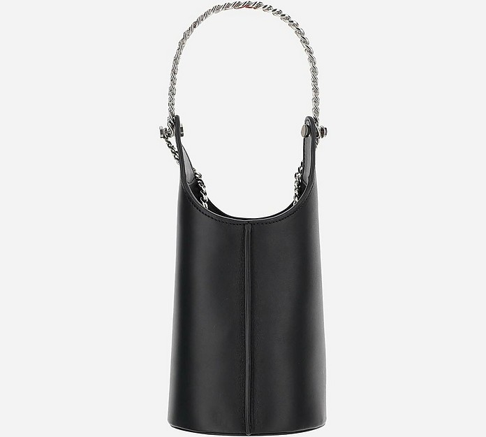 Black Infinity Cooler Leather Bucket bag - Kara