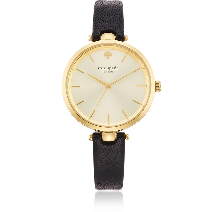 Holland Black Skinny Strap Women's Watch - Kate Spade New York