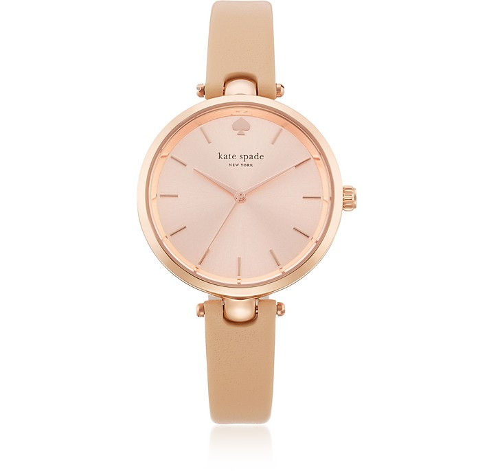 Holland Tan Skinny Strap Women's Watch - Kate Spade New York