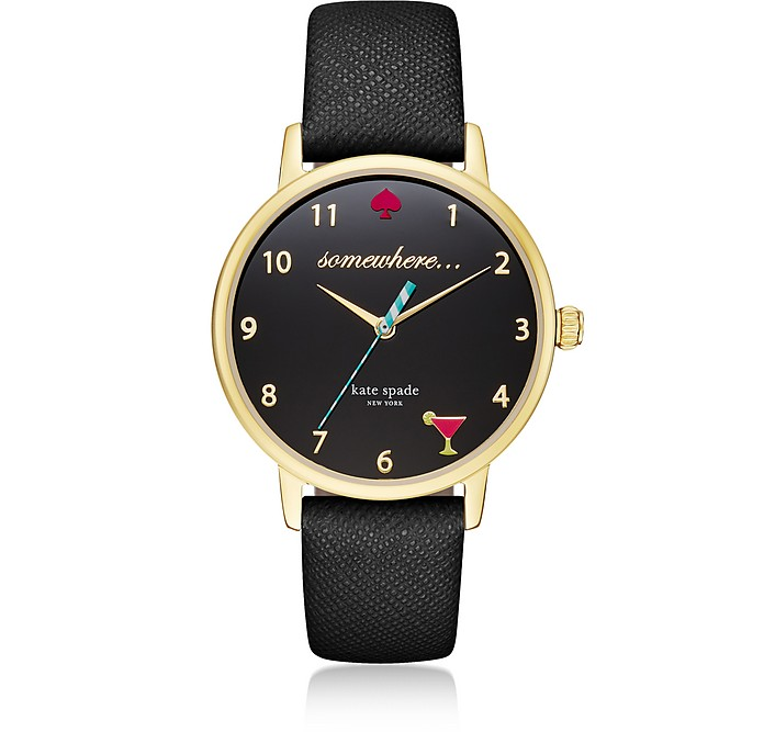 5 O'Clock Black Metro Women's Watch - Kate Spade New York