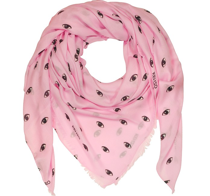 Pink Modal and Silk Printed Eye Wrap - Kenzo