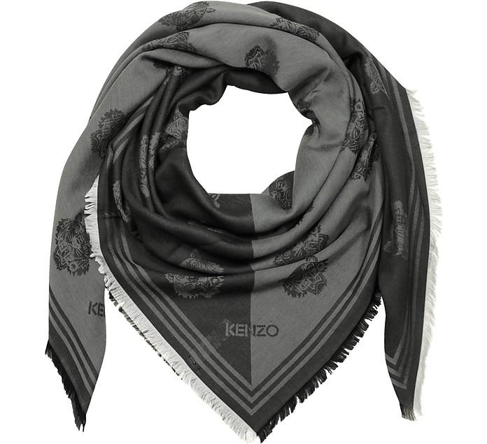 Black Cotton&Modal Tiger Wrap - Kenzo
