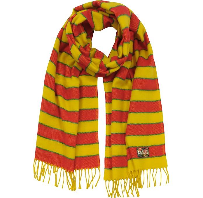 Stripy Wool Long Scarf - Kenzo