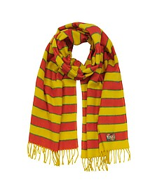 Stripy Wool Long Scarf