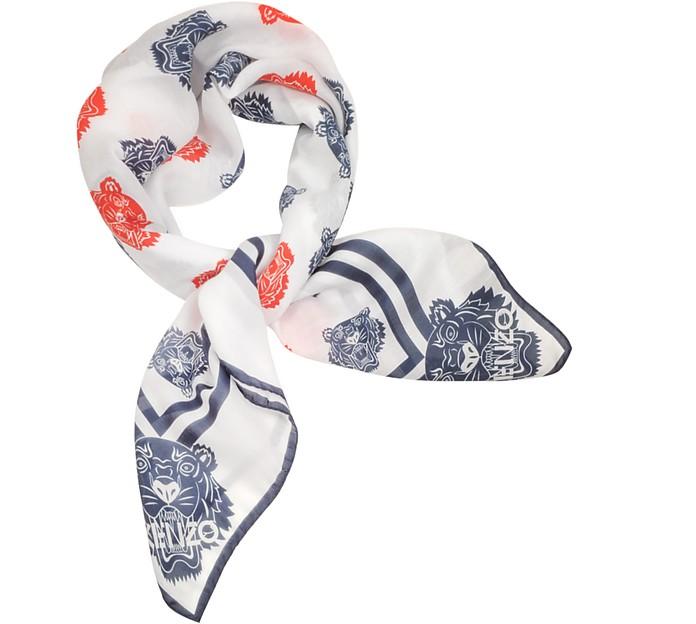 Cotton and Silk Printed Tiger Bandana - Kenzo