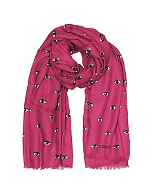 Modal and Silk Printed Eye Wrap - Kenzo
