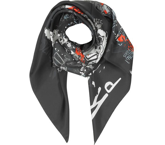Pure Silk Printed Wrap - Kenzo
