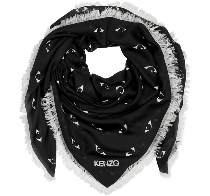 Multi Eyes Printed Modal & Silk Wrap - Kenzo
