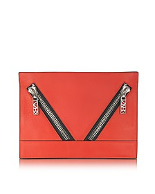 Red K Leather Pouch