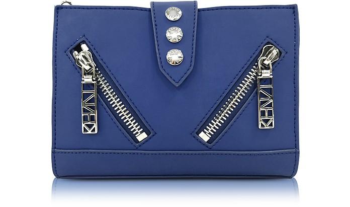 Dark Blue Gommato Leather Kalifornia Wallet on Chain - Kenzo