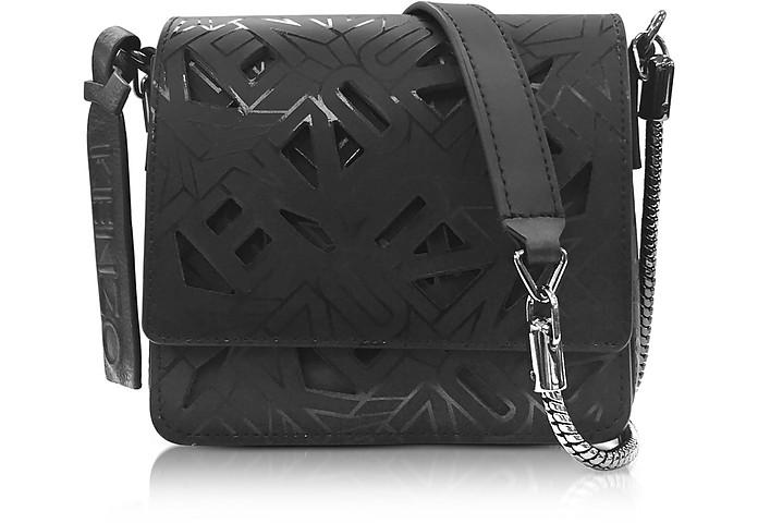 Black Laser Cut Flying Logo Shoulder Bag - Kenzo