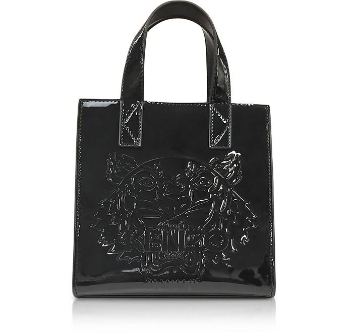5c59d4c40f Kenzo Black Patent Mini Tiger Tote Bag at FORZIERI