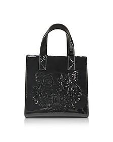 Black Patent Mini Tiger Tote Bag - Kenzo