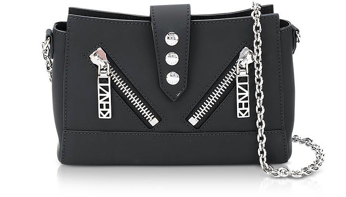 Black Gommato Leather Tiny Kalifornia Shoulder Bag - Kenzo
