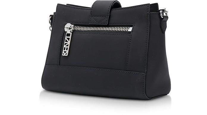 5e456b1142d Kenzo Black Gommato Leather Tiny Kalifornia Shoulder Bag at FORZIERI UK