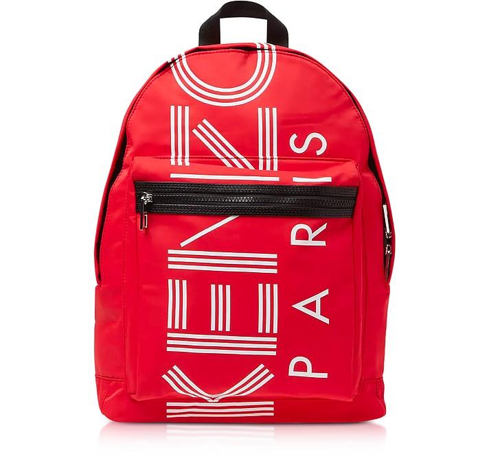Red Nylon Large Kenzo Sport Backpack - Kenzo