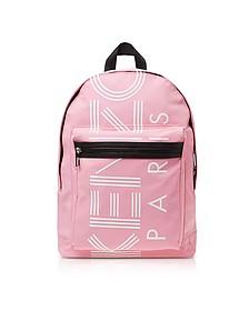 Flamingo Pink Nylon Large Kenzo Sport Backpack - Kenzo