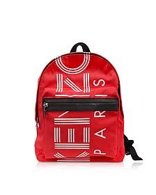 Red Nylon Medium Kenzo Sport Backpack - Kenzo