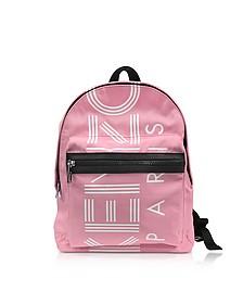 Flamingo Pink Nylon Medium Kenzo Sport Backpack - Kenzo
